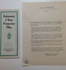 Kelvinator Refrigerator 1937 vintage welcome letter Protection Plan advertising