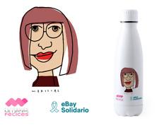 BOTELLA DÍA DE LA MUJER 2020. eBay Solidario x Mujeres Felices