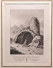 CATALUÑA, BARCELONA, OLERDOLA.Laborde, grabado original 1806 a 1820
