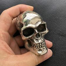 Solid White Copper Cast Skull Car Gear Shift Knob DIY parts Crutches Head Cane