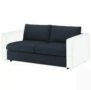 NEW IKEA VIMLE Loveseat 2 Seat Sofa Section Cover ORRSTA Black Blue 003.510.50