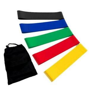 Resistance Exercise Bands Set of 5, Premium High Grade. FREE EXPRESS DELIVERY!