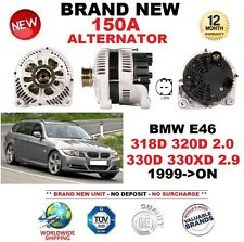 FOR BMW E46 318D 320D 2.0 330D 330XD 2.9 1999-ON NEW 150A ALTERNATOR OE QUALITY
