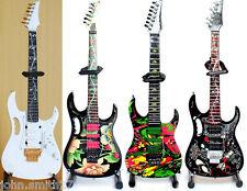 Miniature Guitar Steve Vai Set of 4 Floral, Flower, Swirl Universe,White Ibanez