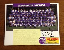 Minnesota Vikings 1992 Team Photo Mike Merriweather Autograph Pittsburgh Steeler