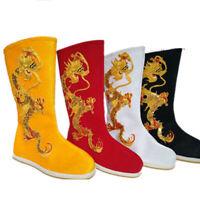 Mens Chinese Emperor Dragon Boots Hanfu Casual Cosplay Swordsman Flats Shoes