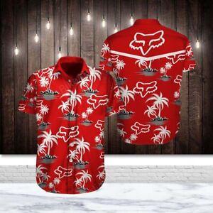 Fox Racing Sports Short Sleeve Hawaiian Shirt All Size
