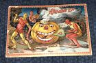 Antique Halloween Tuck's Post Card with Pumpkins and the Devil Demons Vintage