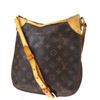 Auth LOUIS VUITTON Odeon PM Shoulder Bag Monogram Leather Brown M56390 72BQ551