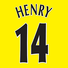 Arsenal Name Set 2005-06 Away Shirt ANY NAME/NUMBER Champions League Henry M L