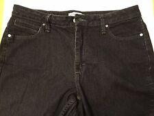 Riders black jeans boot cut ladies 12 med teens