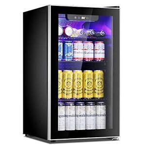 Antarctic Star Beverage Refrigerator Cooler - 100 Can Mini Fridge Glass Door ...
