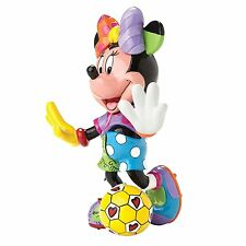 ROMERO BRITTO DISNEY SOCCER PLAYER MINNIE MOUSE WITH BALL FIGURINE