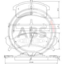 A.B.S. Original BREMSKLÖTZE BREMSBELAGSATZ Vorderachse Buick, 38505