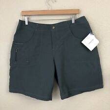Title Nine Women's Shorts Size 14 Teal Canvas, Side Pocket, Hiking, Outdoors