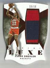 2014-15 Panini Luxe Clyde Drexler Game Used Jersey Patch Relic ROCKETS #13/15