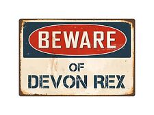 "Beware Of Devon Rex 8"" x 12"" Vintage Aluminum Retro Metal Sign Vs137"