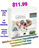 NEW SafeRest Premium Hypoallergenic Waterproof Full Size Mattress Protector