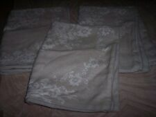 3 tan pillow shams white stitching