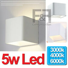 applique led plafoniera parete doppia diffusione luce bianca natura calda quadra