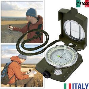 Bussola Lensatic in Metallo per l'escursionismo Esercito Militare Multifunzione
