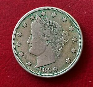 United States, 1890, Liberty Head Nickel (Five Cents) Coin