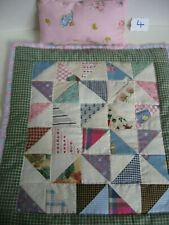 Handcrafted New Doll Bed Quilt and Pillow 14 1/4x 12 1/2 (Item #4) Pinwheel