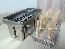 Ice cream popsicle mold for freezer use only stainless steel free shipping