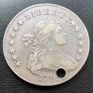 1799 Draped Bust Dollar $1 High Grade XF Details #28716