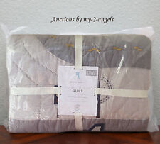 New Pottery Barn Kids Things That Go Full/Queen F/Q Quilt *cars fire trucks
