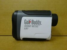 GolfBuddy GB10-LR7 Small Golf Laser Rangefinder - White/Black LR7