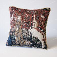 "Jacquard Weave Tapestry Pillow Cushion Cover Lady & Unicorn - Taste 18""x18"", AU"