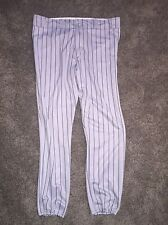MAJESTIC BRAND TEAM MLB GRAY WITH PINSTRIPES MENS XXL BASEBALL PANTS GUC