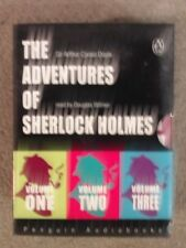 THE ADVENTURES OF SHERLOCK HOLMES vols1,2,3- ARTHUR CONAN DOYLE (AUDIO CASSETTE)
