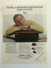 Canon PC-10/20 Personal Copying Cartridge Vintage 1983 Print Ad