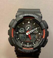 Casio G-Shock Analog Digital Men's Watch GA-100-1A4 Black & Red