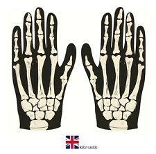 Halloween SKELETON GLOVES Fancy Dress Bone Costume Accessory Children & Adult UK