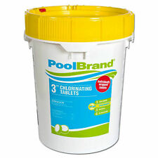 "Pool Brand 50 lbs. 3"" Inch Swimming Pool Chlorine Tablets (Fixed)"