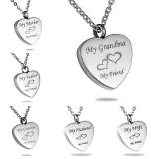 Steel Cremation Jewellery Ashes Funeral Memorial Pendant Necklace Keepsake Urn