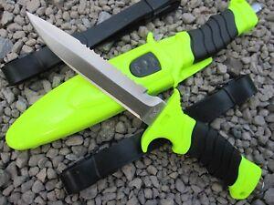 2 in 1 Tauchermesser Diver Knife Messer Rescueknife Rettungmesser + Beinholster