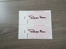 RICHMOND TIGERS - ROYCE HART SIGNED 2007 GRAND FINAL PERSONAL TICKETS