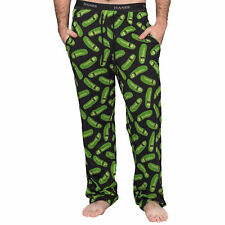 Adult Unisex Rick and Morty Pickle Rick Black and Green Lounge Pants