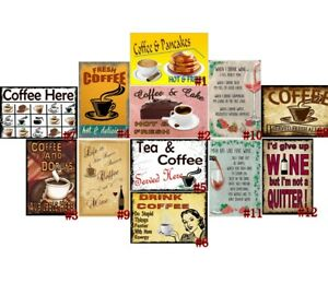 Drink Coffee Retro Metal Tin Signs Vintage Plate House Cafe Art Wall Decor