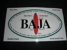 """BAJA """"NORTE & """"SUR""""  SURF SURFING SURFBOARD STICKER"""