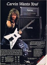 MATT THOR CARVIN BASS GUITAR MAGAZINE PINUP PRINT AD vtg 80's Metal ROUGH CUTT