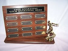 HORSESHOE TOURNEY STAND UP PERPETUAL PLAQUE TROPHY AWARD  FREE ENGRAVING!