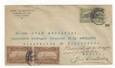 1927 Manila Philippine Islands, 2c Legislative Palace, Imperf Pair Ship Labels