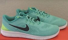 Girls Womens Nike Free RN Run Running Shoes Youth size 7 Y Turquoise NIB