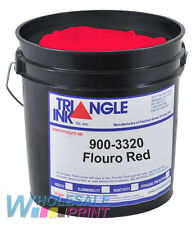 Triangle Ink 900-3320 Flouro Red screen printing plastisol ink 1 Quart (946ml)