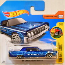 HOT WHEELS 2017 HW ART CARS '64 LINCOLN CONTINENTAL #2/10 BLUE SHORT CARD
